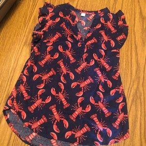 Lobster Linen Top